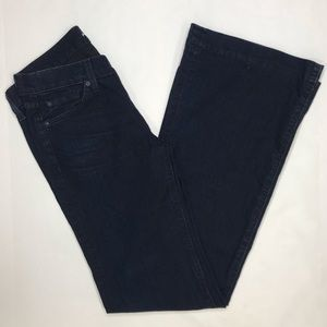 7 for all Mankind dojo bootcut dark wash jeans